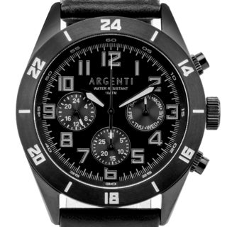 Argenti Damar Men's master calendar multi-function watch, strong luminescence, genuine leather