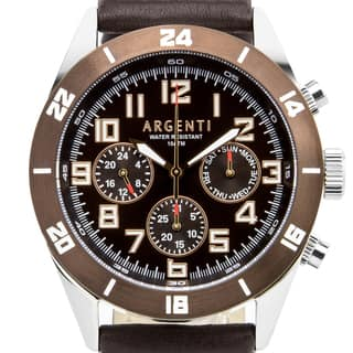 Argenti Damar Men's master calendar multi-function watch, strong luminescence, genuine leather|https://ak1.ostkcdn.com/images/products/12204920/P19051996.jpg?impolicy=medium