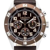 Argenti Damar Men's master calendar multi-function watch, strong luminescence, genuine leather