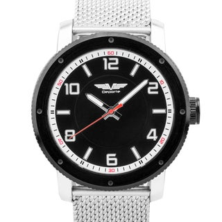 Deporte Men's Oversized Sport Watch, 48mm Case, Stainless Steel Mesh Bracelet