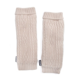 Muk Luks Women's Acrylic/ Polyester Faux Fur Textured Armwarmers