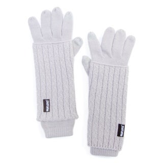 Muk Luks Women's Acrylic Textured 3-in-1 Gloves