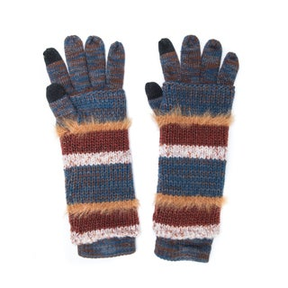 Muk Luks Women's Acrylic/ Nylon Stripe 3-in-1 Glove