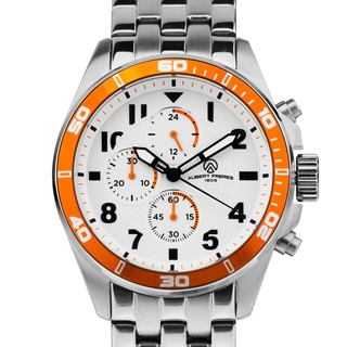 Aubert Freres Corrigan Men's Chronograph Sport Watch With Multi-Link Steel Bracelet