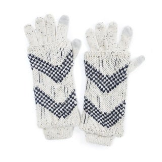 Muk Luks Women's Acrylic Shag Texture 3-in-1 Gloves