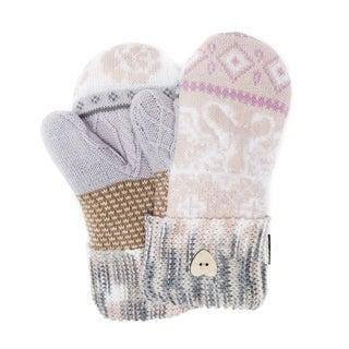Muk Luks Women's Acrylic/ Nylon/ Polyester Faux Fur Romance Potholder Mittens