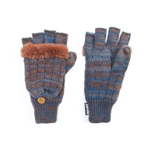 Muk Luks Women's Acrylic/ Polyester Faux Fur/ Polyester Fleece Marled Flip Mittens