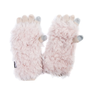 Muk Luks Women's Acrylic/ Polyester Faux Fur Fluffy Romance 3-in-1 Glove