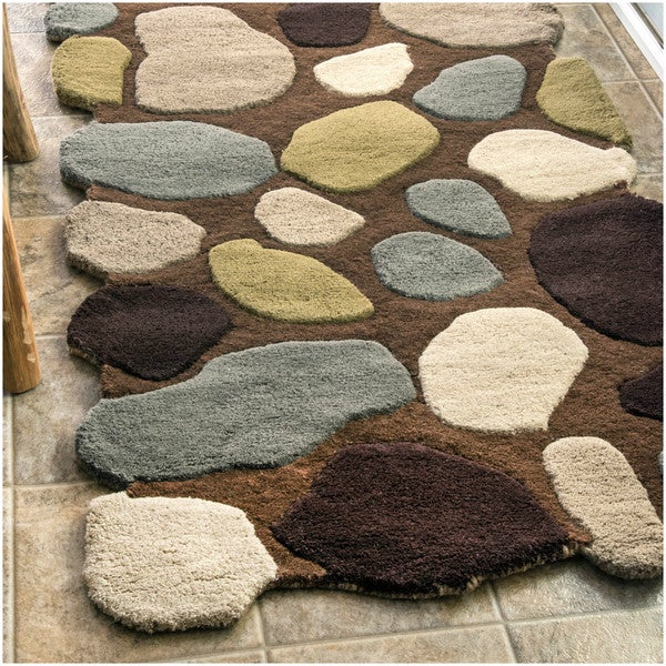 NuLOOM Hand-carved Stones And Pebbles Wool Rug (2' X 3