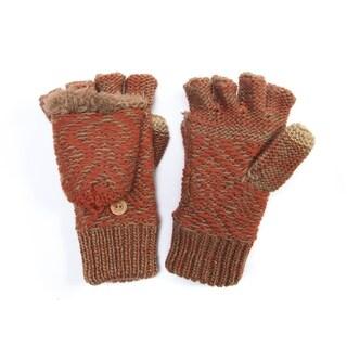Muk Luks Women's Acrylic/ Polyester Faux Fur/ Polyester Fleece Flip Mittens