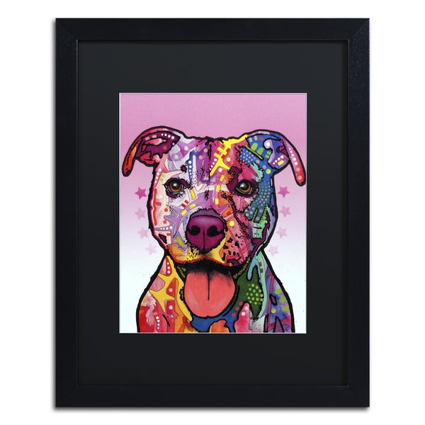 Dean Russo 'Cherish The Pitbull' Matted Framed Art