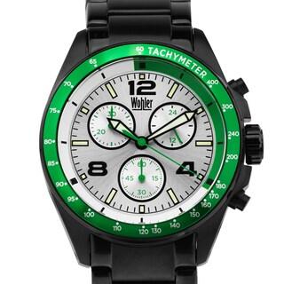 Wohler Heidegger Men's sport chronograph watch, Miyota JS00 movement, bright luminescence, all stainless steel