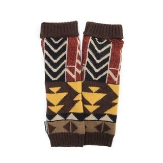 Muk Luks Women's Acrylic/ Polyester Colorblock Geo Knit Armwarmers