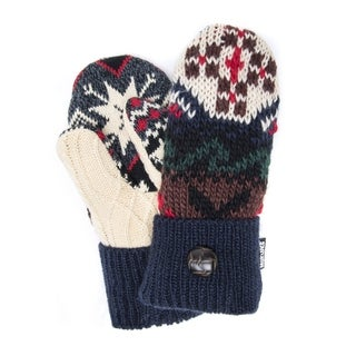 Muk Luks Women's Acrylic/ Polyester Winter Lodge Potholder Mittens