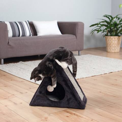 TRIXIE Lera Fold-and-Store MDF/Sisal Rope/Polyester Cat Condo