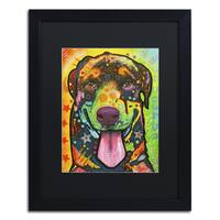 Dean Russo 'Rottie Pup' Matted Framed Art