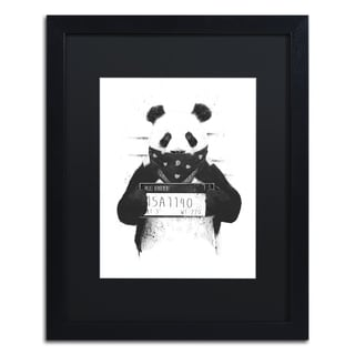 Balazs Solti 'Bad Panda' Matted Framed Art