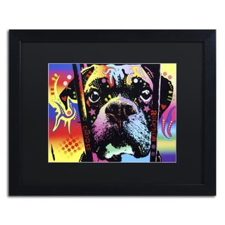 Dean Russo 'Choose Adoption Boxer' Matted Framed Art