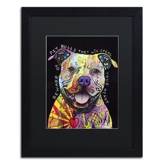 Dean Russo 'Beware of Pit Bulls' Matted Framed Art