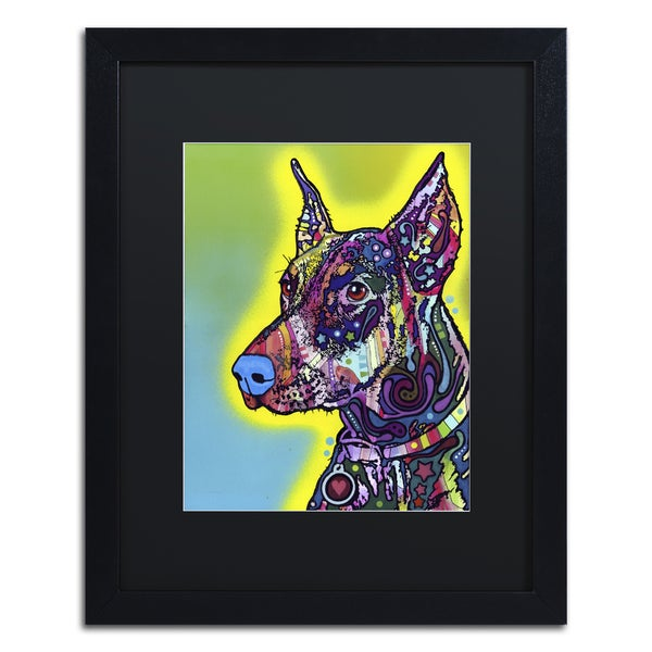 Dean Russo 'Doberman' Matted Framed Art