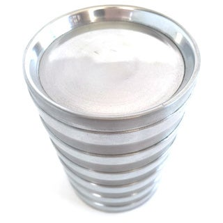 Stainless Steel Small Ribbed Candleholder