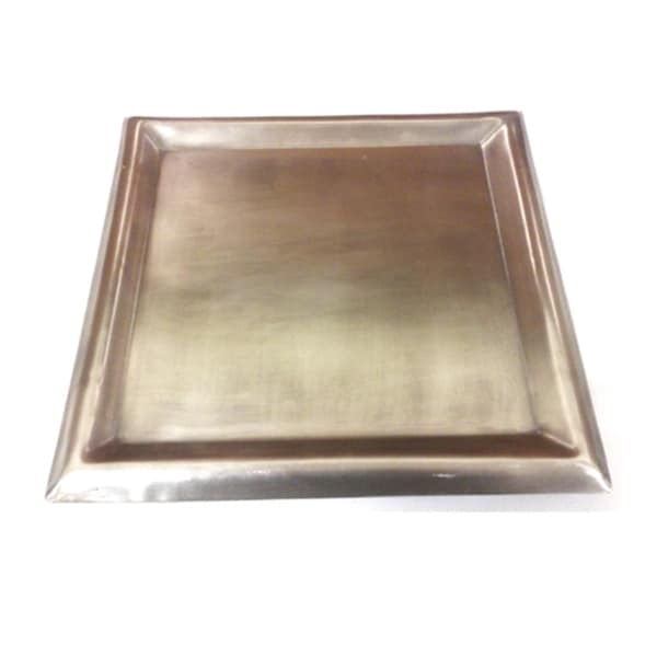 Large Stainless Steel Square Plate Candle Holder  sc 1 st  Overstock.com & Large Stainless Steel Square Plate Candle Holder - Free Shipping On ...
