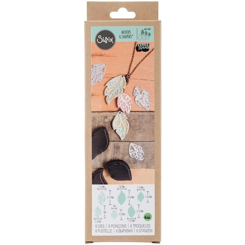 SizzixMovers & Shapers Leaf Charms by Lindsey Serata Magnetic Die Set 3-pack w/Thinlits