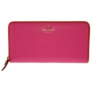 Kate Spade Cobble Hill Lacey Tulip Pink/Bright Papaya Leather Wallet
