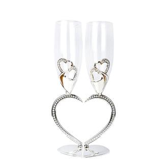 Heart-shaped Wedding Toasting Glasses