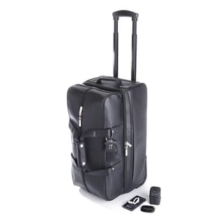 Royce Leather Rolling Duffel Bag Travel Set