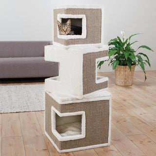 Trixie Lilo Modular 3-story MDF/Sisal Rope/Polyester Cat Tower and Scratching Post
