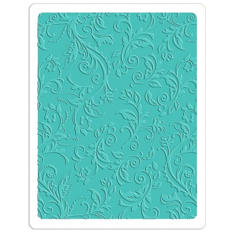 SizzixTextured Impressions Plus Embossing Folder - Botanical Swirls by Rachael Bright