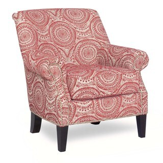 Payton Red Medallion Print Accent Chair