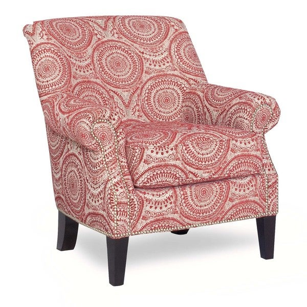 Shop Payton Red Medallion Print Accent Chair Free