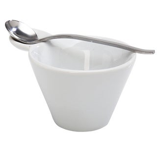 IMPULSE! Pana White Porcelain Bowl With Spoon (Set of 3 Pieces)