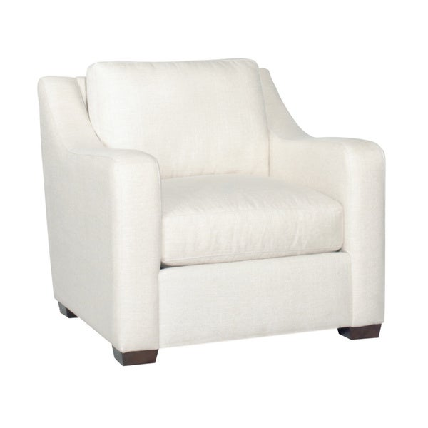 Shop Aria Designs Carter Pearl White Accent Chair Free
