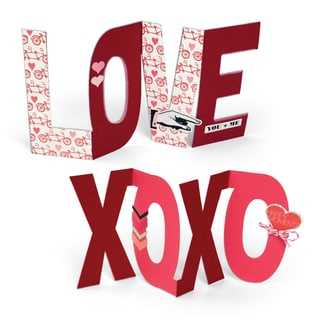 Sizzix Rachael Bright Bigz 'Love' and 'XOXO' Phrase Die Cuts