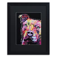 Dean Russo 'Thoughtful Pit Bull' Matted Framed Art