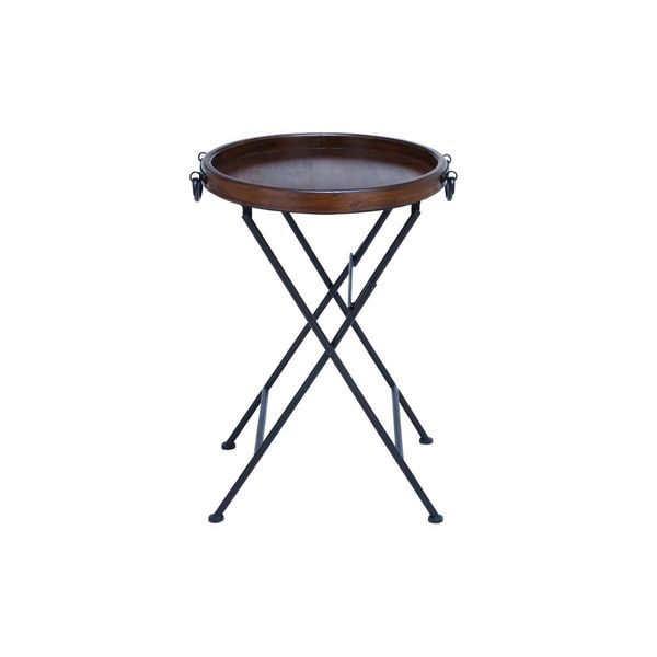 Metal Wood Tray Table 20 Inches Wide X 28 Inches High