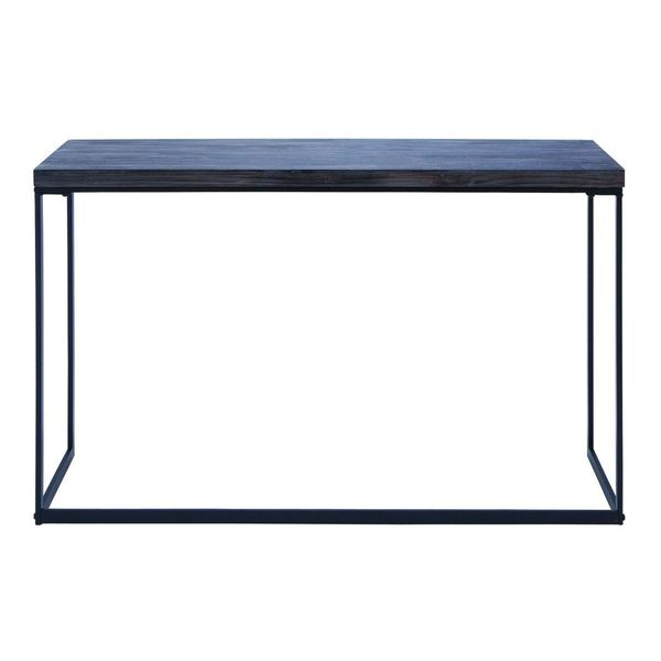 Metal wood console table 52 inches wide x 33 inches high for 10 inch sofa table