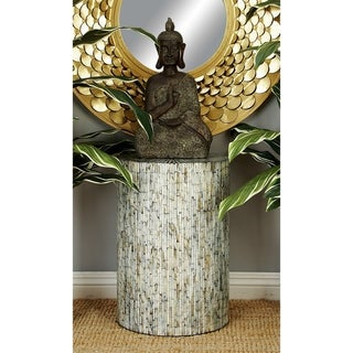 Contemporary 20 x 14 Inch Shell Inlaid Accent Table by Studio 350
