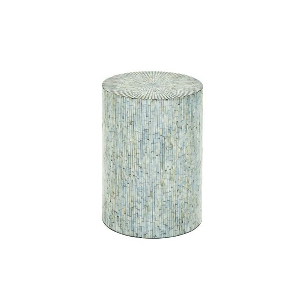 Wood Shell Inlay Accent Table 14 Inches Wide X 20 Inches