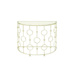 Metal Glass Console Table (38 inches wide x 30 inches high)