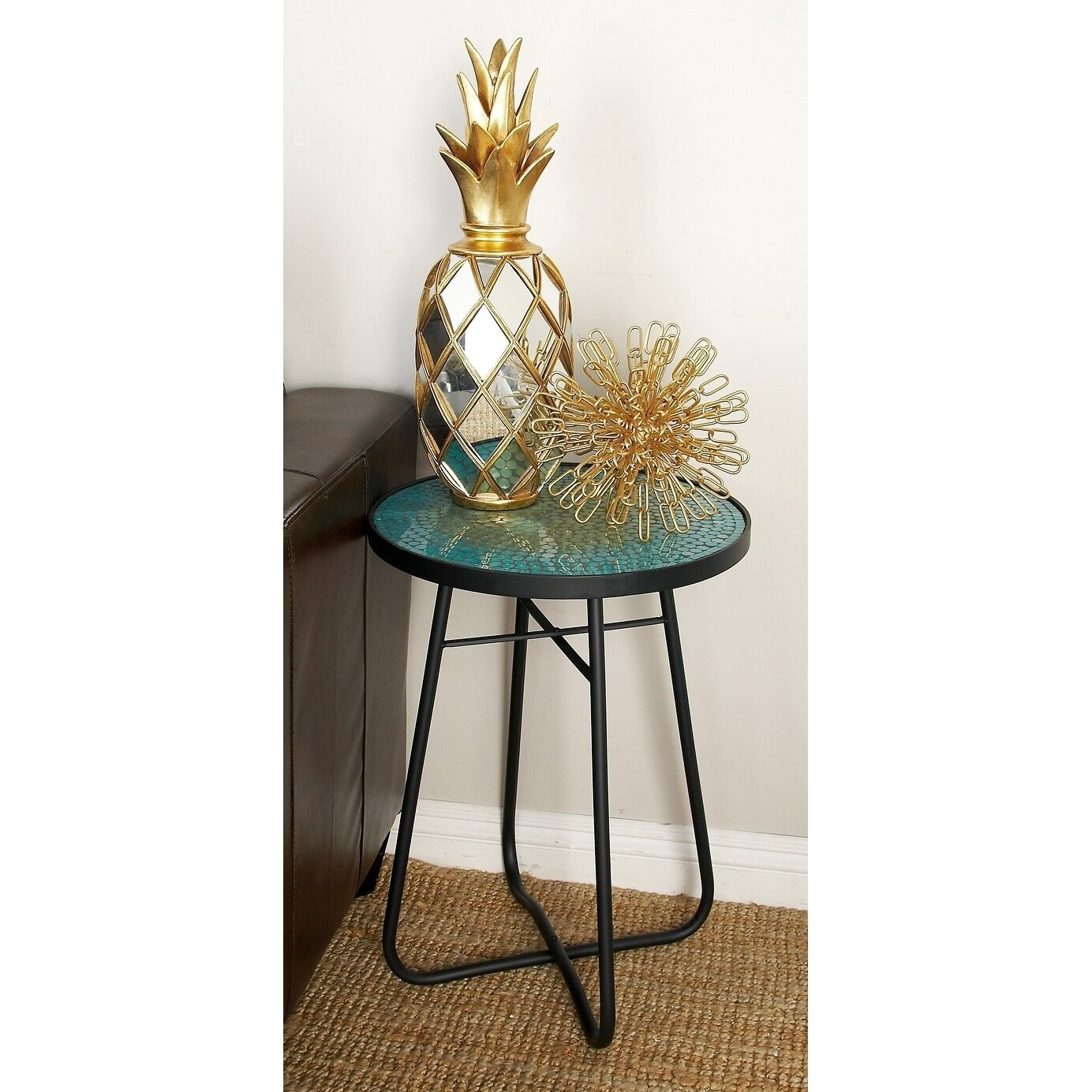 - Shop Modern 23 X 16 Inch Iron And Glass Mosaic Accent Table By