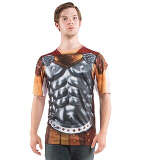 Men's Multicolored Polyester Faux Gladiator T-shirt