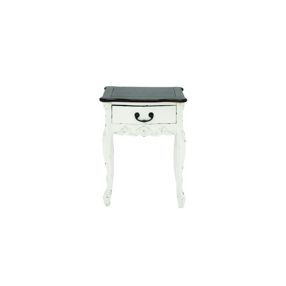 Wood Side Table (19 inches wide x 24 inches high) (WD SIDE TABLE 19W, 24H)