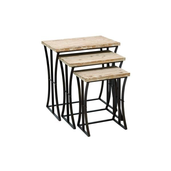 Shop metal wood nesting table set of inches