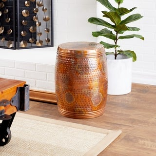 Metal Brown Accent Table (19 inches high x 14 inches wide)