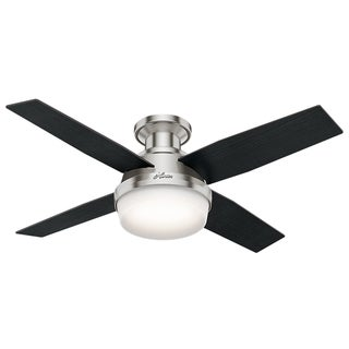 "Link to Hunter 44"" Dempsey Low-profile Ceiling Fan with LED Light Kit and Handheld Remote Similar Items in Ceiling Fans"