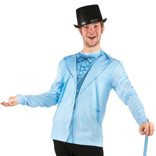 Men's Faux Real Blue Tuxedo T-shirt